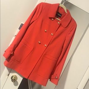Express Red Peacoat
